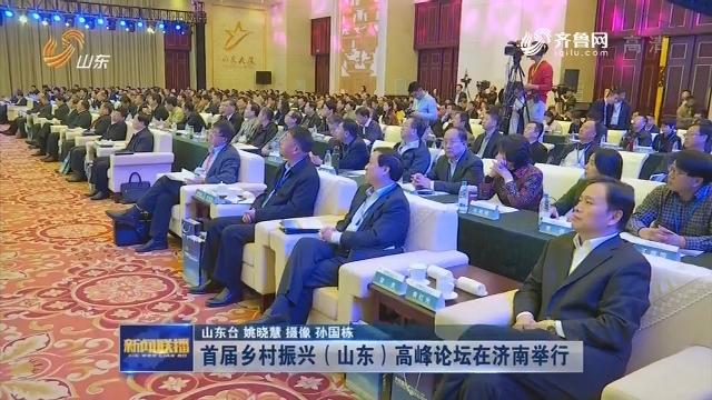 首届乡村振兴(山东)高峰论坛在济南举行