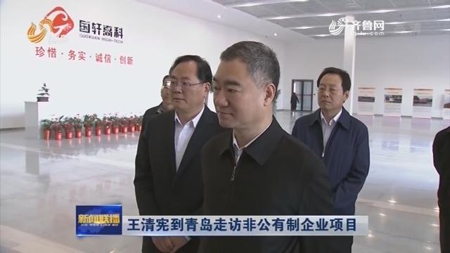 王清宪到青岛走访非公有制企业项目