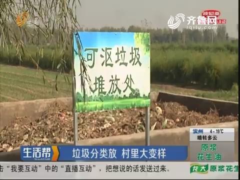 菏泽:垃圾分类放 村里大变样