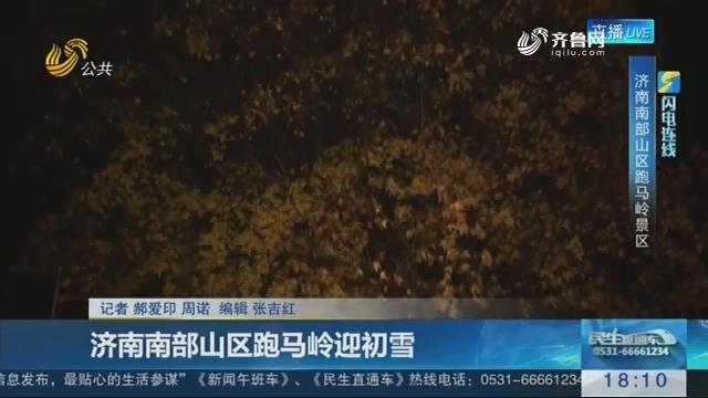 【闪电连线】济南南部山区跑马岭迎初雪