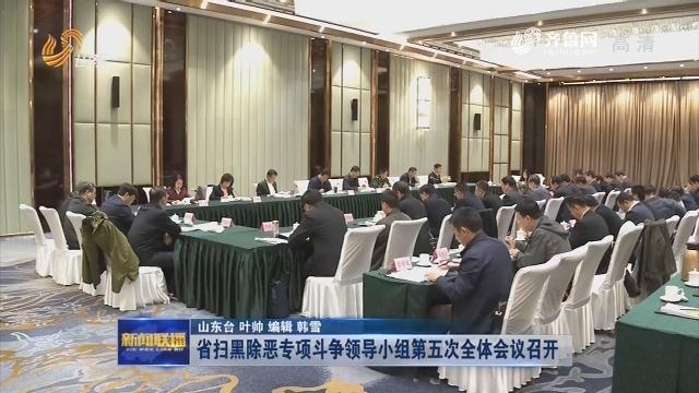 省扫黑除恶专项斗争领导小组第五次全体会议召开