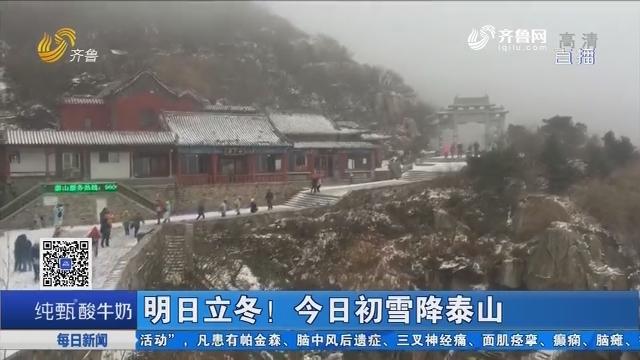 明日立冬! 今日初雪降泰山