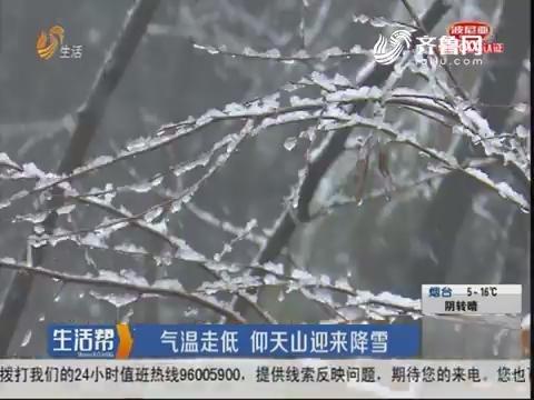 青州:气温走低 仰天山迎来降雪
