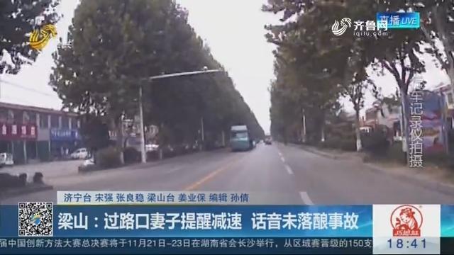 梁山:过路口妻子提醒减速 话音未落酿事故