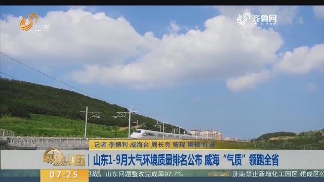 """山东1-9月大气环境质量排名公布 威海""""气质""""领跑全省"""