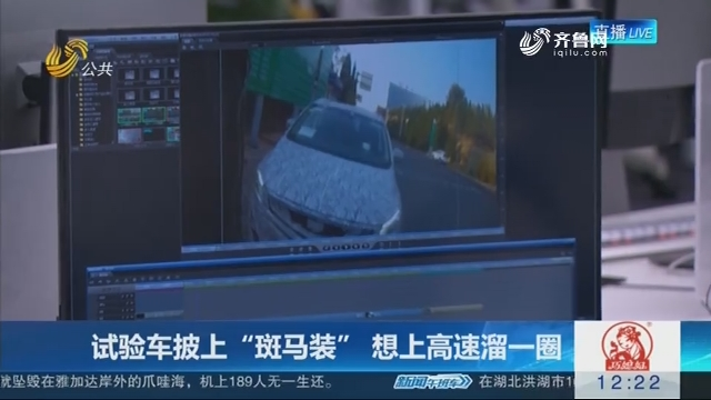 """【连线编辑区】试验车披上""""斑马装"""" 想上高速溜一圈"""