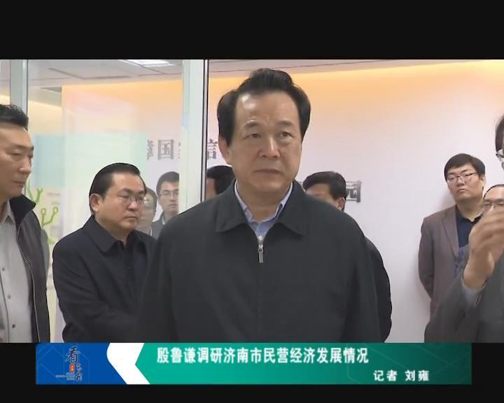 殷鲁谦调研济南市民营企业发展情况