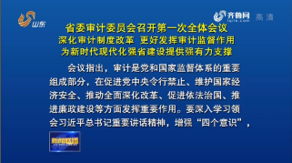 省委审计委员会召开第一次全体会议