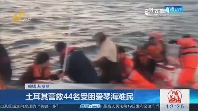 土耳其营救44名受困爱琴海难民