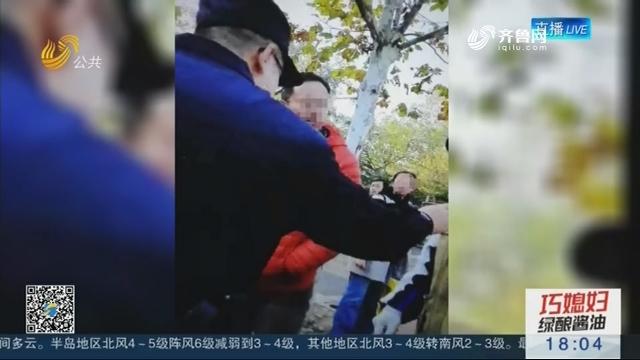 青岛:学校门口 女老师被殴打