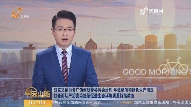 刘家义到桓台广饶调研督导污染治理环境整治和绿色生产情况 以全面从严治党为统领促进生态环境质量持续改善