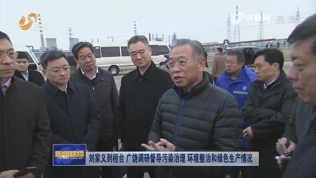 刘家义到桓台 广饶调研督导污染治理 环境整治和绿色生产情况