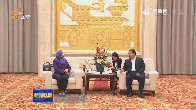 林峰海会见马格里布国家和北非国家政党干部考察团一行