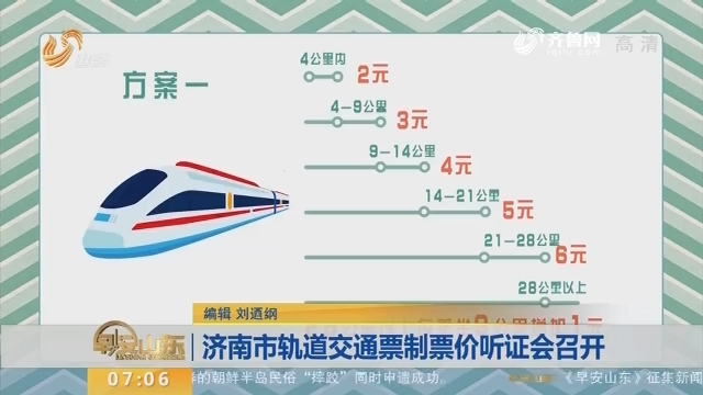 【闪电新闻排行榜】济南市轨道交通票制票价听证会召开