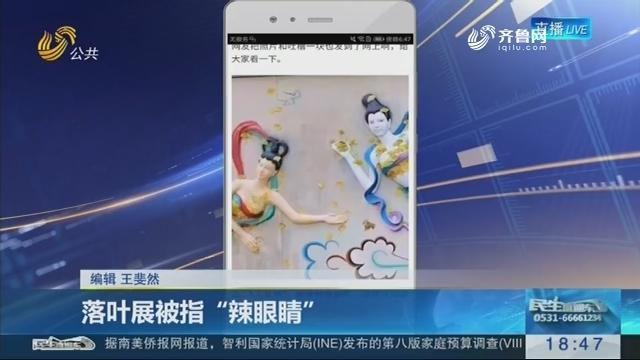 """【新说法】落叶展被指""""辣眼睛"""""""