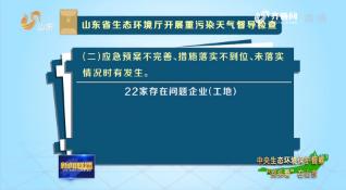 """【中央生态环境保护督察""""回头看""""在山东】山东省生态环境厅开展重污染天气督导检查 22家企业存在问题"""