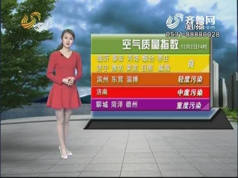 看天气:鲁南地区阴有小雨 鲁西北阴转多云