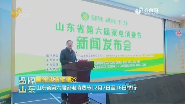 【品牌新动能】山东省第六届家电消费节12月7日至16日举行