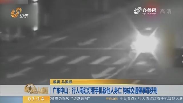 【闪电新闻排行榜】广东中山:行人闯红灯看手机致他人身亡 构成交通肇事罪获刑