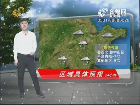看天气:全省天气多云转阴