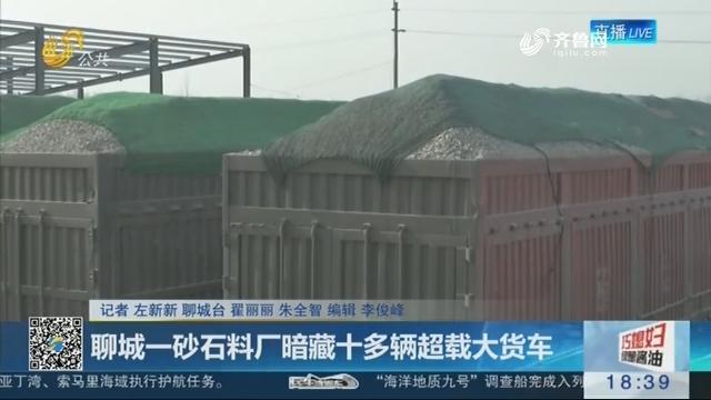 聊城一砂石料厂暗藏十多辆超载大货车