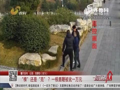 """【警方发布】""""棵""""还是""""克""""?一根鹿鞭被讹一万元"""
