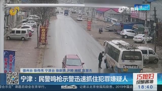 宁津:民警鸣枪示警迅速抓住犯罪嫌疑人