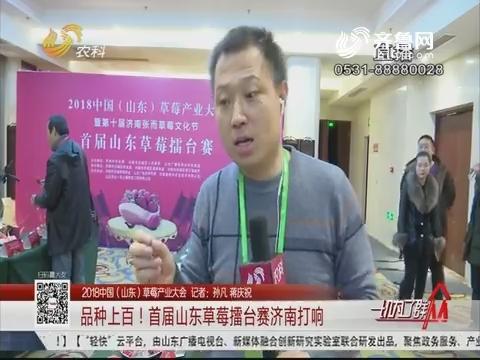 【2018中国(山东)草莓产业大会】品种上百!首届山东草莓擂台赛济南打响