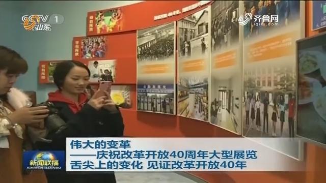 伟大的变革——庆祝改革开放40周年大型展览 舌尖上的变化 见证改革开放40年