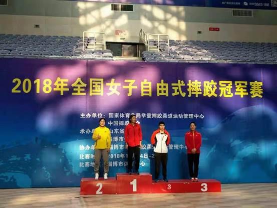 2018年全国女子自由式摔跤冠军赛淄博落幕