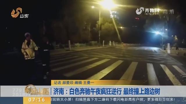 【闪电新闻排行榜】济南:白色奔驰午夜疯狂逆行 最终撞上路边树