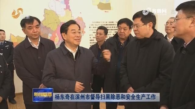 杨东奇在滨州市督导扫黑除恶和安全生产工作