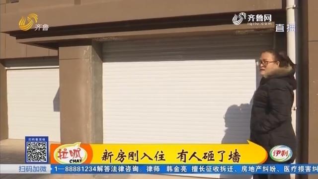 枣庄:新房刚入住 有人砸了墙
