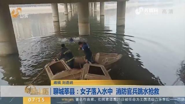 【闪电新闻排行榜】聊城莘县:女子落入水中 消防官兵跳水抢救