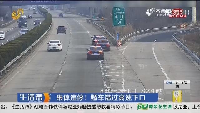 烟台:集体违停!婚车错过高速下口