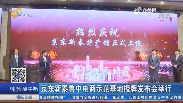 京东新泰鲁中电商示范基地授牌发布会举行