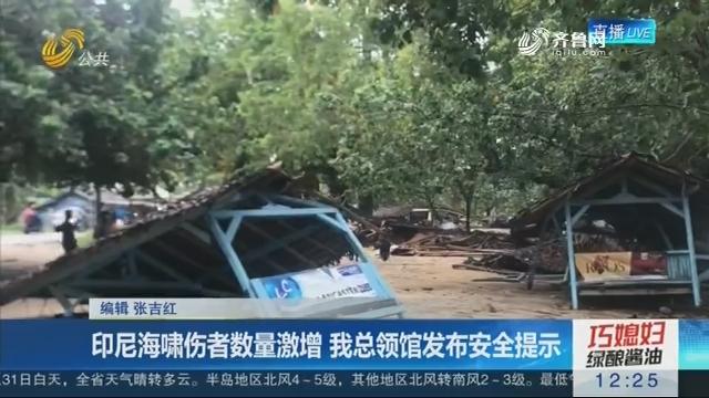 印尼海啸伤者数量激增 我总领馆发布安全提示