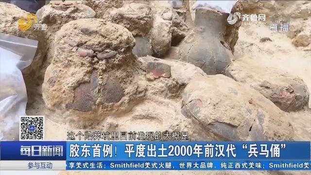"""胶东首例!平度出土2000年前汉代""""兵马俑"""""""
