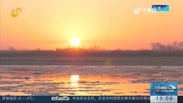东营黄河入海口日出