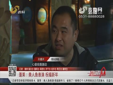 蓬莱:美人鱼表演 祝福新年