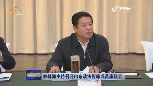 林峰海主持召开山东政法智库成员座谈会