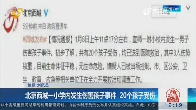 北京西城一小学内发生伤害孩子事件 20个孩子受伤