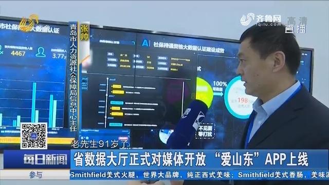 """省数据大厅正式对媒体开放 """"爱山东""""APP上线"""