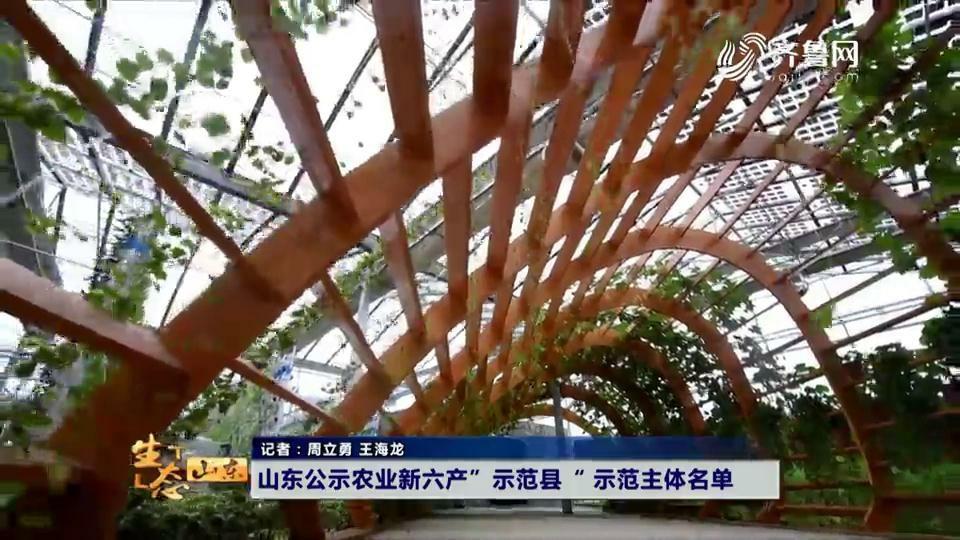 """山东公示农业新六产""""示范县""""示范主体名单"""
