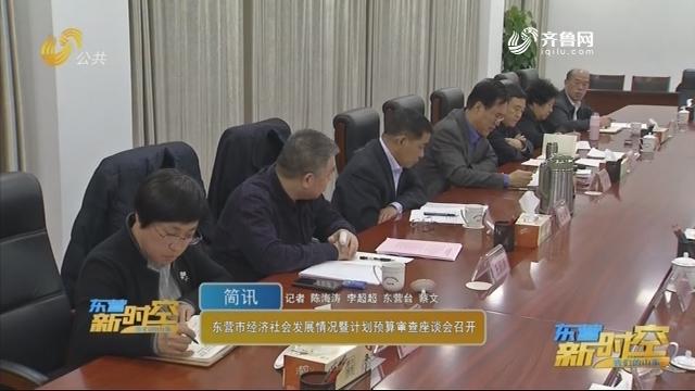 东营市经济社会发展情况暨计划预算审查座谈会召开