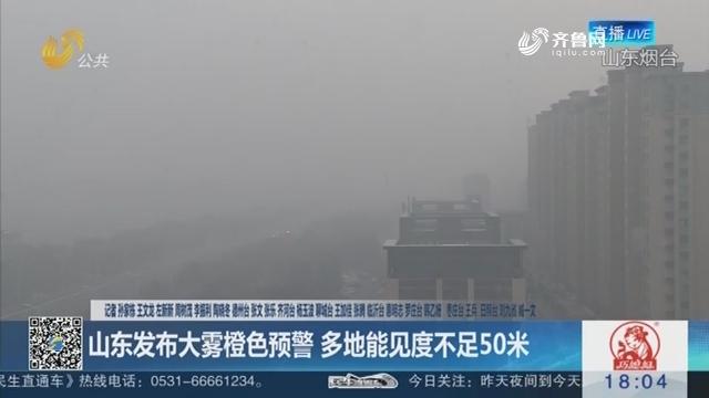 【海丽气象吧】山东发布大雾橙色预警 多地能见度不足50米