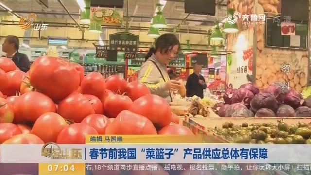 """春节前我国""""菜篮子""""产品供应总体有保障"""