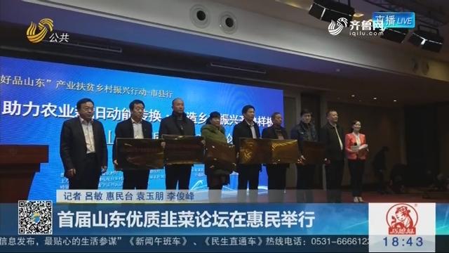 首届山东优质韭菜论坛在惠民举行