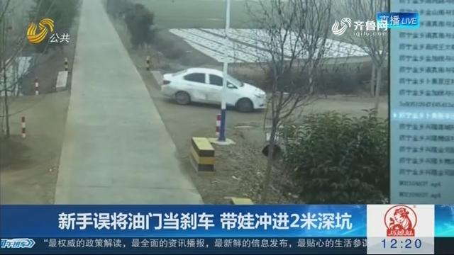 【连线编辑区】老手误将油门当刹车 带娃冲进2米深坑