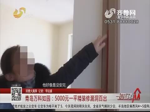 【消费大真探】青岛万科如园:5000元一平精装修漏洞百出